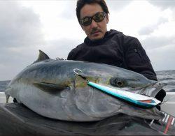 朝長さんがザビエモンで釣り上げたヒラマサの画像